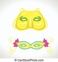 Carnival mask vector isolated