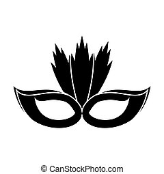 carnival mask with feathers pictogram