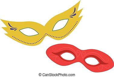 Carnival masks flat design icon
