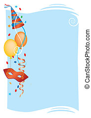 Vector colorful background for carnival and party invitation cards with colored carnival design elements