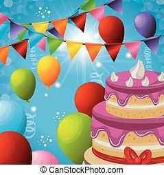 carnival party celebration card vector illustration design