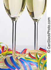 Carnival-Party - Faschingsfeier - 2 Glasses of Sparkling...