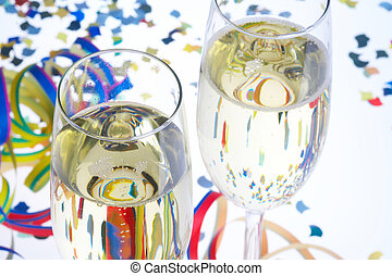 Carnival Party - Faschingsfeier - 2 Glasses of Sparkling...