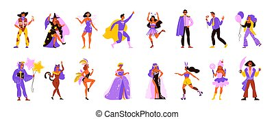 Carnival People Icon Set