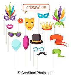 Carnival photo booth props. Accessories for festival and...