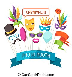 Carnival photo booth props. Accessories for festival and party