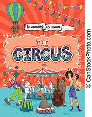 carnival poster - vintage carnival, fun fair or circus...