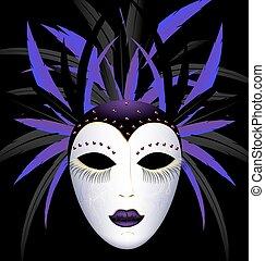 carnival purple dark mask