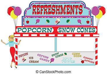 carnival refreshment stand  - carnival theme