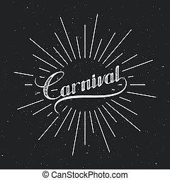 Carnival retro label