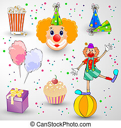 Carnival Set - vector illustration of different colorful...
