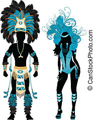 Carnival Silhouette Blue Couple