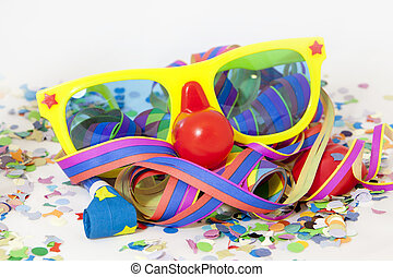 Carnival - Colorful carnival background with stripes and...