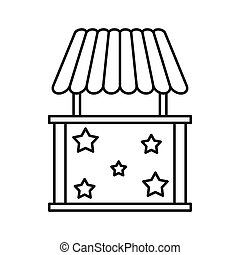 Carnival tent icon, outline style - Carnival tent icon in...