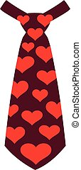 Carnival tie with hearts