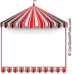 carnivals tent frame - detailed illustration of a carnivals...