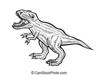 carnivorous dinosaur illustration