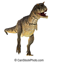 Carnotaurus sastrei Dinosaur on White