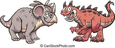 carnotaurus, styracosaurus