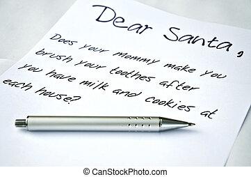 caro,  santa, lettera