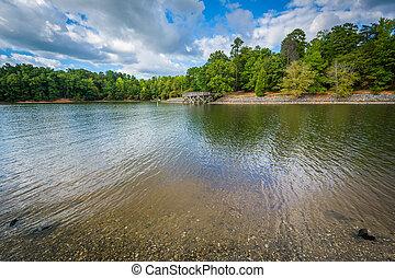 carolina., észak, természet, tó, wylie, mcdowell, megőriz,...