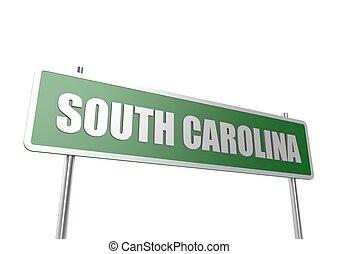 carolina, bord, syd, underteckna