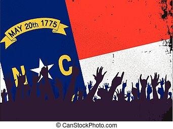 carolina norte, bandeira estatal, com, audiência