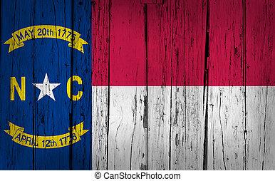 carolina norte, bandeira estatal, grunge, fundo