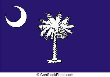 carolina, syd, flagga