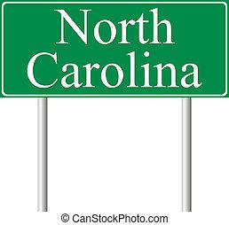 caroline nord, vert, panneaux signalisations