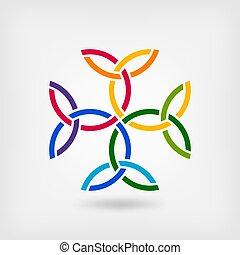 carolingian, crucifixos, trindade, knots., símbolo celtic