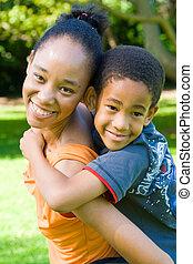 carona piggyback, família