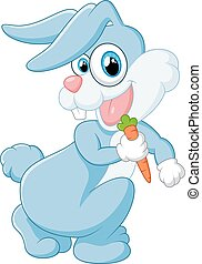 carota, coniglio, presa a terra, felice