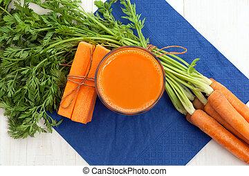 carotte, à, jus