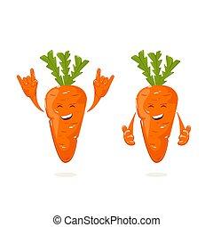 carotte, heureux
