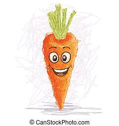 carottes, heureux