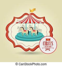carousel horses emblem circus