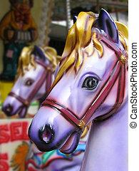 Carousel horses - Wooden carousel horses
