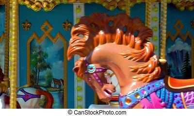 Carousel in Amusement Park Playground Fun Place Fair