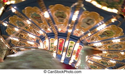 Carousel in Amusement Park Playground Fun Place Fair