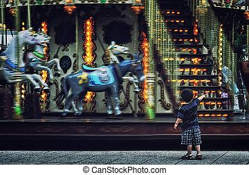 Carousel in San Sebastian, Spain
