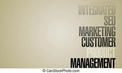 Carousel Of Marketing Words HD