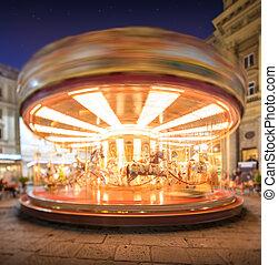 Carousel on Piazza della Repubblica in Florence - Carousel...