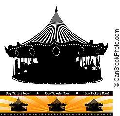 Carousel Ride Silhouette