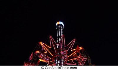 carousel roundabout, swinging turning around, amusement...
