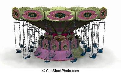 Carousel with swings