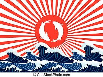 carp fish yin yang japanese graphic - carp fish yin yang on ...