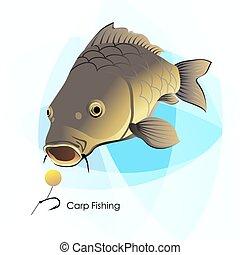 Carp Fishing, fish and lure