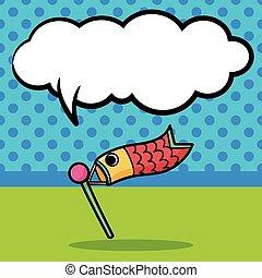 Carp streamer doodle