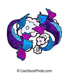 Carpa koi illustrazione clip art cerca illustrazioni for Carpa koi prezzo